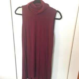 Maroon turtle neck dress